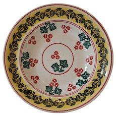 Antique Stick Spatter Spongeware Bowl