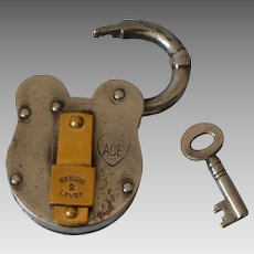Antique English Lock Padlock by Ace
