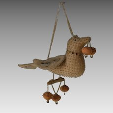 Native Iroquois Beaded Whimsy Bird dated 1908