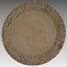 Antique Bread Board Breadboard with Acorns and Oak Leaves