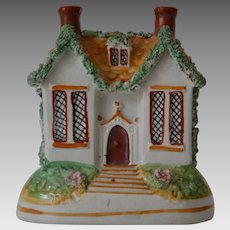 Victorian Staffordshire House Bank Money Box