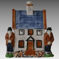 Early Staffordshire Bank Money Box with Figures