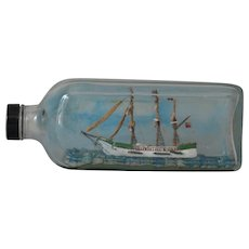 Vintage Model Sailing Ship in a Bottle