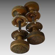 Aesthetic Movement Brass Doorknobs