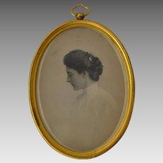 Antique Photo Portrait of a Young Woman