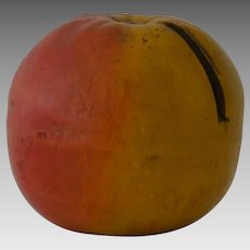 Antique Apple Bank Money Box in Pottery