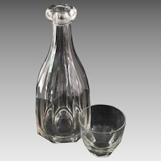 Antique Glass Carafe Decanter for Water