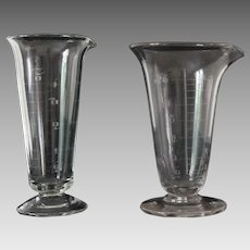 Antique Apothecary Glass Measures