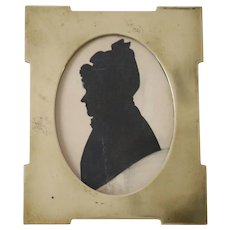 Antique Silhouette Of a Victorian Lady