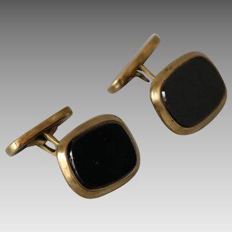 Gold and Onyx Cufflinks
