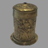 English Match Safe Vesta in Brass dated 1851