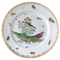 Porcelain Insect Bird Cabinet Plate