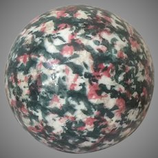 Victorian Carpet Ball Bowl In Sponged Decoration