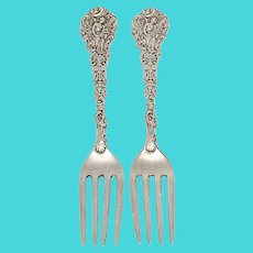 Set of 2 Gorham Versailles Sterling Silver Luncheon Forks with Engraving