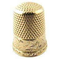 Vintage 14 Karat Yellow Gold Thimble