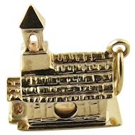 Vintage 14 Karat Yellow Gold Chapel Charm