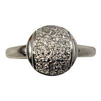 Vintage 18 Karat White Gold and Diamond Ring Size 7