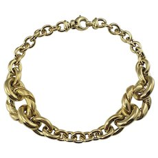 Vintage Roberto Coin 14 Karat Yellow Gold Link Bracelet