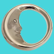 Tiffany & Co Sterling Silver Man In The Moon Teether Baby Rattle