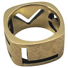 Vintage 14 Karat Yellow Gold LOVE Ring Size 6.25