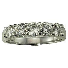 Vintage Platinum and Diamond Wedding Band Ring Size 8