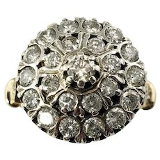 Vintage 14 Karat Yellow/White Gold and Diamond Ring Size 7