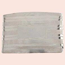 Vintage Tiffany & Co Sterling Silver Engine Turned Belt Buckle