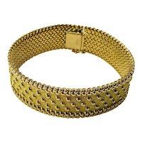 Vintage Cartier 18 Karat Yellow Gold Bracelet