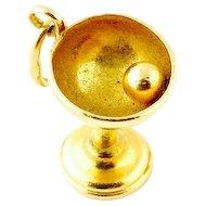 Vintage 14 Karat Yellow Gold Chalice Charm