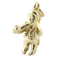 Vintage 10 Karat Yellow Gold Leprechaun Charm