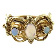 Vintage 14K Yellow Gold Opal Ring Size 6.5