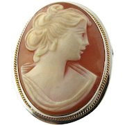 Vintage 900 Sterling Silver Cameo Pendant/Pin