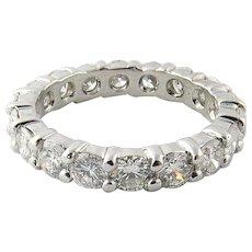 Vintage Platinum Diamond Wedding Eternity Band Size 6.5 /  2.7 carats