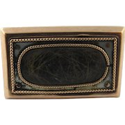 Antique 9 Karat Yellow Gold Victorian Mourning Hair Brooch