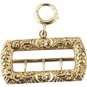Antique 9 Karat Yellow Gold Victorian Chatelaine Pendant