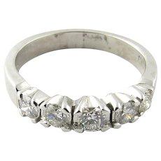 Vintage Platinum Diamond Wedding Band Size 5