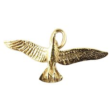Vintage 14K Gold Flying Bird Pendant/Charm