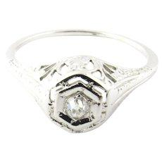 Vintage 18 Karat White Gold Diamond Engagement Ring Size 6