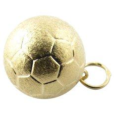 Vintage 14 Karat Yellow Gold Soccer Ball Charm