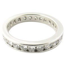 Vintage Platinum Diamond Eternity Band Size 5.75/1.35 cts.