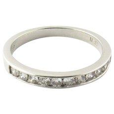 Vintage Platinum Diamond Wedding Band Size 5.5