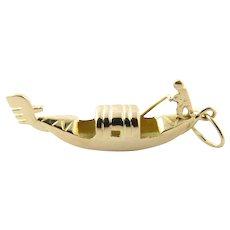 Vintage 18 Karat Yellow Gold Gondola Charm