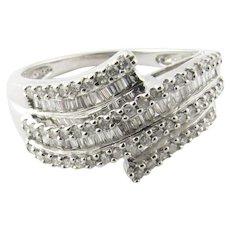 Vintage 14 Karat White Gold Diamond Ring Size 7