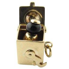 Vintage 14 karat Yellow Gold Jack in the Box Charm