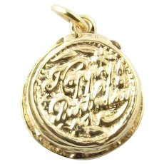 Vintage 14 Karat Yellow Gold Articulated Birthday Cake Charm