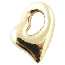 Vintage 14 Karat Yellow Gold Heart Pendant