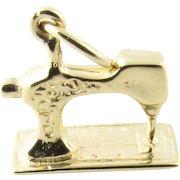 Vintage 14 Karat Yellow Gold Sewing Machine Charm