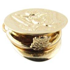 Vintage 14 Karat Yellow Gold U.S. Army Cap Charm