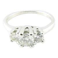 Vintage 14 Karat White Gold Diamond Engagement/Anniversary Ring Size 5.5