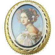 Vintage 18 Karat Yellow Gold Cameo Pendant/Brooch